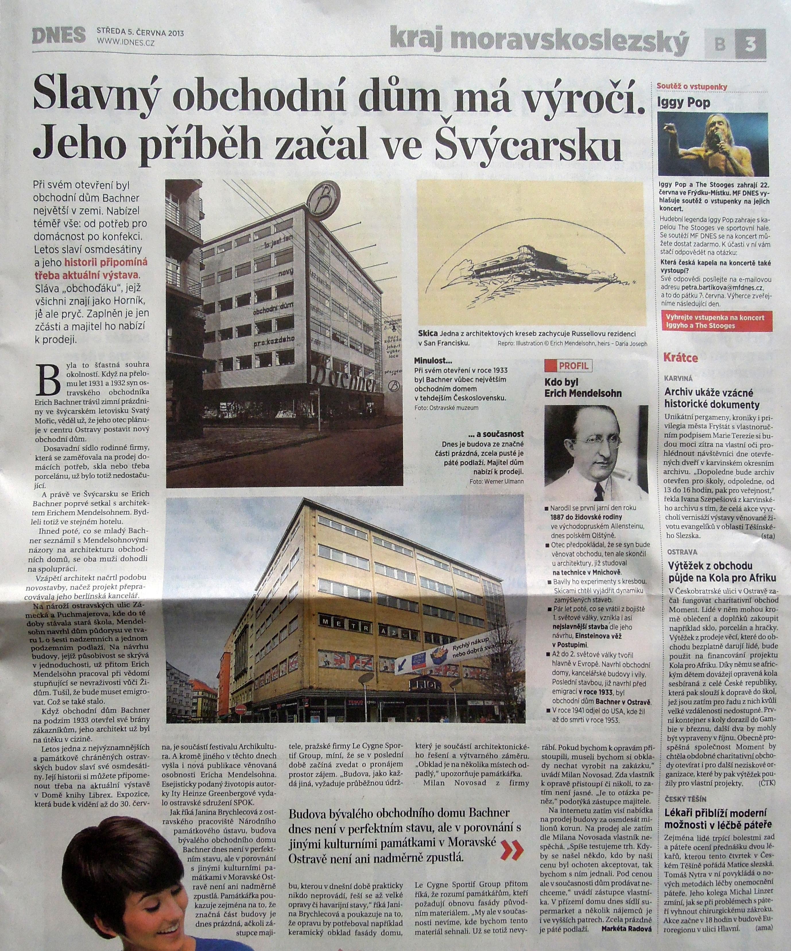 Slavný obchodní dům má výročí. Jeho příběh začal ve Švácarsku / MF Dnes 5. 6. 2013
